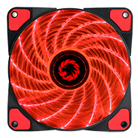 Game Max Storm Force 15 x Red LED 12cm Cooling Fan With Hydraulic Bearings - Click below for large images
