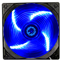Game Max Sirocco 4 x Blue LED 12cm Cooling Fan  - Click below for large images