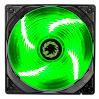 Game Max Sirocco 4 x Green LED 12cm Cooling Fan - Click below for large images