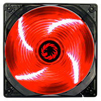 Game Max Sirocco 4 x Red LED 12cm Cooling Fan - Click below for large images