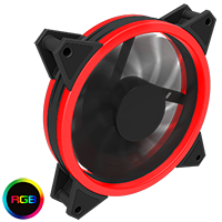 GameMax Velocity 12cm RGB Fan Bulk 4pin M&F Aura Header 3pin / 4pin Power - Click below for large images