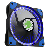 Game Max Vortex Blue Ring & 32 LED 12cm Cooling Fan With Hydraulic Bearings - Click below for large images