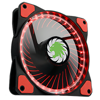 Game Max Vortex Red Ring & 32 LED 12cm Cooling Fan With Hydraulic Bearings - Click below for large images