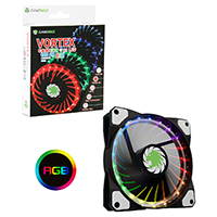 Game Max Vortex RGB 12cm Fan LED & Ring Lighting 16.8 Million Colours - Click below for large images