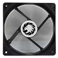 Game Max Windforce Black 12cm Cooling Fan 3 & 4 Pin Connector - Click below for large images