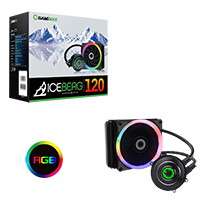 Game Max Iceberg 120mm Water Cooling System with 7 Colour PWM Fans  - Click below for large images