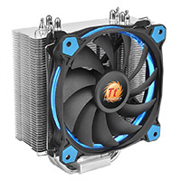 Thermaltake Riing Silent 12 Blue CPU Cooler With Blue 12cm Riing Fan - Click below for large images