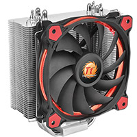 Thermaltake Riing Silent 12 Red CPU Cooler With Red 12cm Riing Fan - Click below for large images