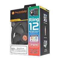 Thermaltake Riing12 Led RGB Fan, 256 Colour 120mm with Fan Switch - Click below for large images
