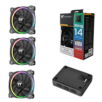 Thermaltake Riing Fans 140mm Premium RGB 3 Pack - Click below for large images