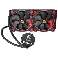 Thermaltake Pacific Water 3.0 Riing Red LED 280mm CPU Water Cooler - Click below for large images