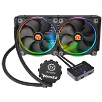 Thermaltake Pacific Water 3.0 Riing RGB LED 280mm CPU Water Cooler - Click below for large images