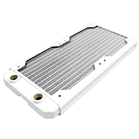 Black Ice  Nemesis GTS 240 Radiator - White - Click below for large images
