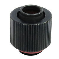 Liquid Cool  13 10mm Matt Black Compression Fitting G1 4 Straight - Click below for large images