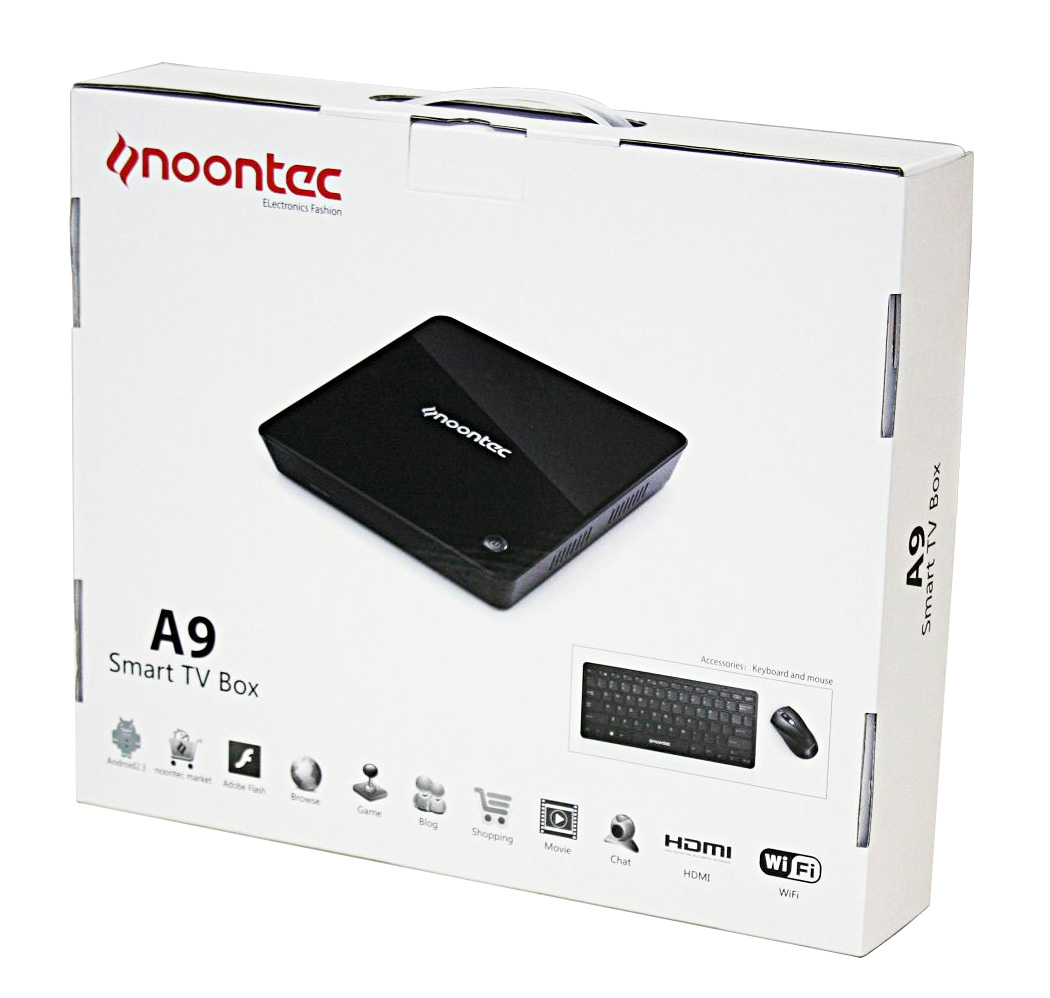 Noontec A9 Android 2 3 1 2GHz CPU Smart TV Box - Comes with WiFi KB