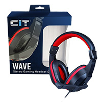 CiT Wave Stereo Wired Headphone and Mic - Click below for large images