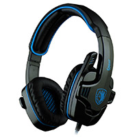 Sades  SA-708 G Power Blue PC Stereo Gaming Headset - Click below for large images