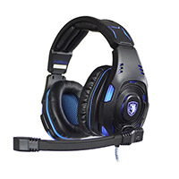 Sades  SA-907S Kinight Plus PC Virtual 7.1 Gaming Headset - Click below for large images