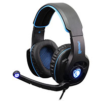 Sades  SA-923 Hammer Gaming Headset Blue Virtual 7.1 Surround Sound 50mm Driver - Click below for large images