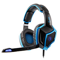Sades  SA-968 Luna Gaming Headset in Blue Virtual 7.1 Surround Sound  - Click below for large images