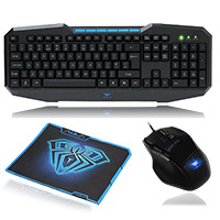 Aula  Ajudication & Kill 928 Gaming Mouse 832 Keyboard & Mouse Pad Gaming Combo - Click below for large images