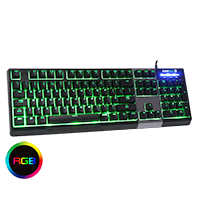Game Max Click Mechanical Feel Keyboard RGB - Click below for large images