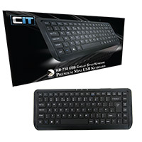 CiT WK-738 Premium Mini USB Black Keyboard - Click below for large images