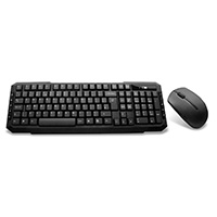 CiT EZ-Touch Wireless Keyboard and Mouse Combo Set Black - Click below for large images