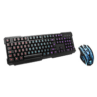 Powercool Lightning LED Blue/Red/Purple Keyboard + 3200DPI Gaming Mouse Kit - Click below for large images