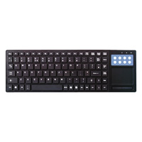 Qwerty TPad USB Multimedia Keyboard with Touchpad - Click below for large images