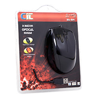 CiT M14 USB/PS2 Combo Optical Mouse 800dpi Black - Click below for large images