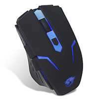 Powercool GM001 Gaming Mouse . Blue Led USB . 1.5M Braided Cable - Click below for large images
