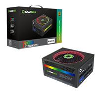 Game Max 550W Modular RGB Gold 80 Plus 14cm RGB Fan & Illuminated Logo - Click below for large images