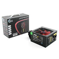 ACE 500W BR Black PSU with 12cm Red Fan & PFC -  - Click below for large images