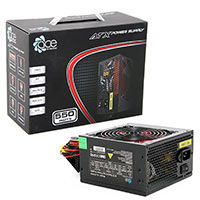 ACE 550W BR Black PSU with 12cm Red Fan & PFC - Click below for large images
