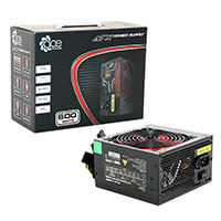ACE 600W BR Black ATX Power Supply with a Silent 120mm Red Fan & PFC - Click below for large images