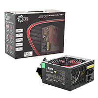 ACE 850w Black PSU 12cm Red Fan PFC - Click below for large images