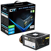 CiT 450W Black Edition PSU 12cm Single Rail CE PFC Model 450UB - Click below for large images