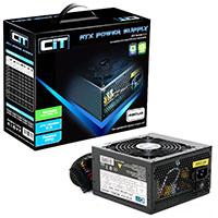 CiT 480W Black Edition PSU 12cm Single 12v CE PFC Model 480UB - Click below for large images