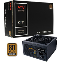 CiT 500w ATV Pro 14cm Fan APFC 80plus - Click below for large images