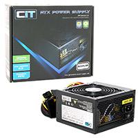 CiT 500W Black Edition PSU 12cm Single 12v CE PFC Model 500UB - Click below for large images