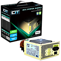 CiT 500W Gold Edition PSU 12cm 24-Pin SATA Model 500U - Click below for large images