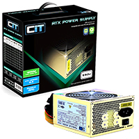 CiT 550W Gold Edition PSU 12cm 24-Pin SATA Model 550U - Click below for large images