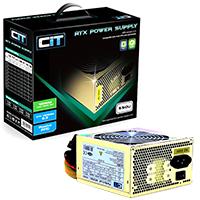 CiT 550W Gold Edition PSU 12cm 24-Pin SATA Model 550U - Click below for large images