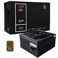 CiT 600W FX Pro 14cm Fan APFC 80 Plus - Click below for large images