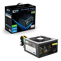 CiT 600W Black Edition PSU 12cm Single 12v CE PFC Model 600UB - Click below for large images
