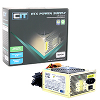 CiT 600W Gold Edition PSU 12cm 24-Pin SATA Model 600U - Click below for large images