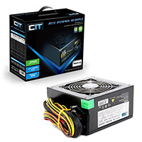 CiT 650W Black Edition PSU 12cm Single 12v CE PFC Model 650UB  - Click below for large images