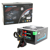 Powercool Modular  550W PSU 80+ Single 12V V2.31 High Efficiency - Click below for large images