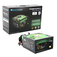Powercool  650W 80+ Single 12v V2.31 High Efficiency Black PSU - Click below for large images